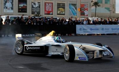 Formula E electric race car