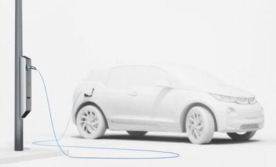 BMW streetlight car charging