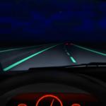 smart highway with glow-in-the-dark roads