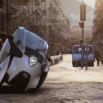 Toyota i-ROAD on street
