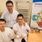NTU Associate Professor Chen Xiadodong with research fellow Tang Yuxin and PhD student Deng Jiyang